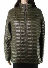 The North Face Womens Jacket Olive Green Size Large L Puffer Zip Front $69 784