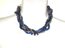 Ann Taylor LOFT Blue Bead Crystal Rope Chain Twisted Necklace NWT $44.50