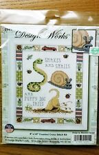 Design Works Snakes and Snails Sampler Counted Cross Stitch Kit 2941 NEW