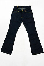 LEE FELTON JEANS PREMIUM QUALITY INDIGO BLUE DENIM BOOTCUT W27 L30 UK10 WIDE LEG