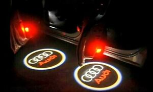 2x LED Door Projector Courtesy Puddle Shadow Lights for Audi