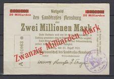 Flensburg  -  Landkreis  - 20 Milliarden Mark  -  Überdruck   (566)