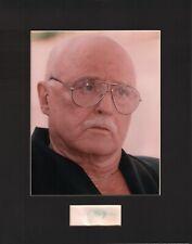 Rod Steiger Signed Autographed Cut Matted 11x14 w/COA 073019DBT2
