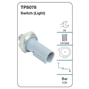 Tridon Oil Pressure Switch TPS078 fits Smart Fortwo 1.0 (451) 52kw, 1.0 Turbo...