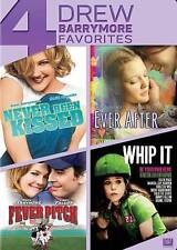 *NEW--Never Been Kissed/Ever After/Fever Pitch/Whip It (DVD, 2014, 4-Disc Set)