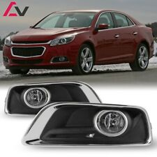 13-15 For Chevy Malibu Clear Lens Pair Bumper Fog Light Lamp+Wiring+Switch Kit