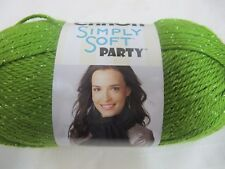 CARON SIMPLY SOFT PARTY YARN,85 GRS,2 BALLS SPRING,NEW