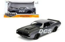 JADA BIG TIME MUSCLE 1973 PLYMOUTH BARRACUDA GREY 1/24 DIECAST CAR 98235