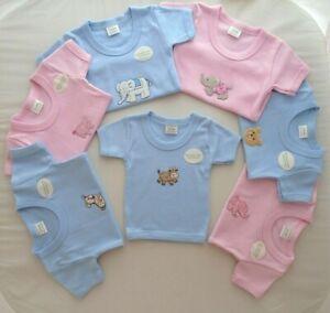 0-3m 3-6m Baby Girls Boys T-Shirt Summer Clothes Pink Blue Organic Cotton