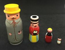 Vintage wooden nesting dolls Shackman Japan