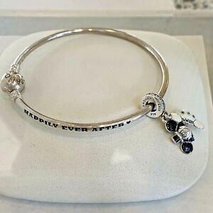 Disney Parks Pandora Happily Ever After Bride Groom Ear Hat Bracelet Wedding Set