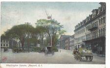 Washington Square Newport Rhode Island Vintage Postcard Posted 1908