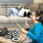 Electronic Drum Digital 7 Pads Roll Up Set Silicone Midi Electric Drum Pad Kit photo