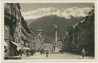 ÖSTERREICH INNSBRUCK Maria Theresiastrasse 1920 ungebrauchte RP echtes Photo s/w
