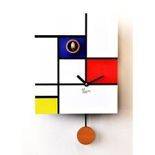 OROLOGIO CUCU MODERNO, PIRONDINI, AROUND MONDRIAN, HOME DESIGN CUCKOO CLOCKS