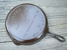 Griswold Victor No.9 Cast Iron Skillet Fully Marked