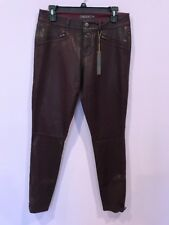 LEVEL 99 Jeans Skinny Pants Purple Jeans Look Shinny Size  29