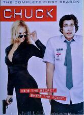 CHUCK - COMPLETE 1ST SEASON - ADAM BALDWIN, ZACH LEVI - (4) DVD SET - SEALED