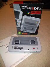 New Nintendo 3DS XL SNES Super Nintendo Edition Grey Console BOXED MINT