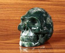 Figurine Crâne en Jaspe, 8cm x 5,5cm x H:6,5 cm. Lithothérapie -Pierre Naturelle