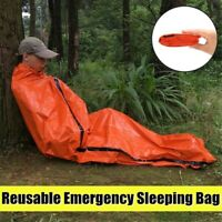 Reusable Emergency Sleeping Bag Thermal Waterproof Survival Camping Travel US