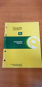 JOHN DEERE F910 & F930 FRONT MOWERS OPERATORS MANUAL (OM-M72336) ISSUE H6