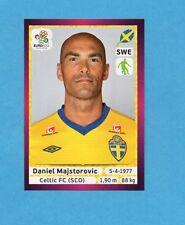 PANINI-EURO 2012-Figurina n.435- MAJSTOROVIC - SVEZIA -NEW-DARK BOARD