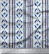 "1 MTR Poly Satin Stoff Material 44"" breite Shibori Farbdruck"
