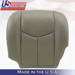 2003 2004 2005 2006 Chevy Silverado Driver Bottom Leather Seat Cover pewter gray