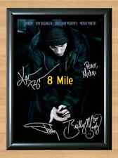 Mile Eminem Brittany Murphy Eight Signed Autographed A4 Poster Print Photo dvd