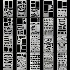 20x Stencil DIY Drawing Template Journal Planner Diary Decor Craft Tools