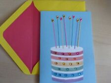 Papyrus Gorgeous Happy Bithday Card- layers of glitter cake