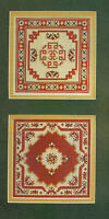 Oriental Rugs Samplers Cross Stitch Pattern chart from magazine 2 Miniatures