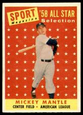 1958 TOPPS #487 MICKEY MANTLE YANKEES ALL STAR NM-MT+ to MINT