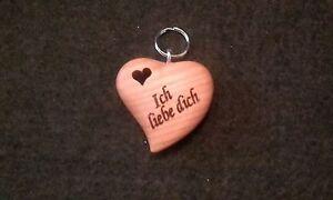 Schlüsselanhänger Asymmetrisches Herz herzförmigem Loch incl. Wunschgravur