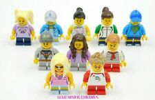 10 NEW LEGO FEMALE & MALE CHILDREN MINIFIGURES BOY GIRL CITY TOWN