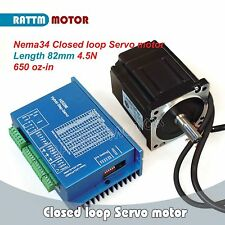 Nema34 Servo Motor 4.5N.m Closed Loop&Hybrid HSS86H 8A Driver kit for CNC Router