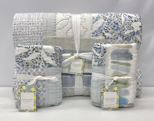 NEW Pottery Barn Rebecca Atwood Spring Garden Patchwork KING Quilt w/EURO Shams
