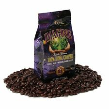 Kona Coffee Beans by Imagine 100% Kona Hawaii Medium Dark Roast Whole Bean 4 oz