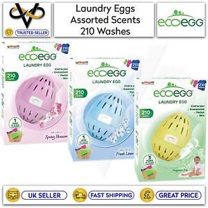 Ecoegg Laundry Egg 210 Washes Fragrance Free, Fresh Linen or Spring Blossom