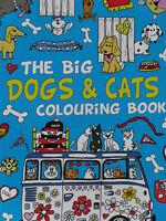 Großes Hunde & Katzen Malbuch * Blau * mehr als 30 tolle Motive * DIN A4 * Neu