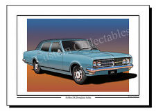 Holden HK brougham Sedan (Lt. Blue)  Colour Print