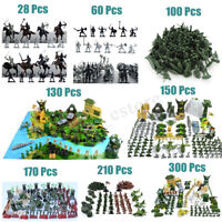 28-300 Pcs Military Plastic Toy Set Soldiers Army Men Figures Model Kids  AL