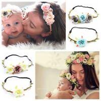 Circle Weaving Baby Mom Headwear Girl Flower Hairband Holiday Bridal Head Band