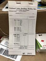 Vintage Late 1950s early 1960S National Beverage Beer Soda Order pad 25 sheet NM