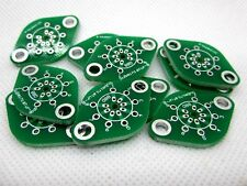 10pc Subminiature8 B8D tube adapter bare PCB For GE6021 6N16B 6N21b 2.0mm