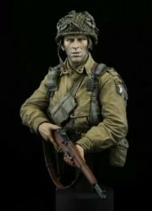 1/10 - MAJOR DICK WINTERS - BAND OF BROTHERS - 101st AIRBORNE - RESIN BUST - NEW