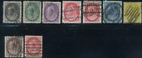 Canada #74-79,81,83,88 used 1898-1902 Queen Victoria Numeral Part Set CV$52.50