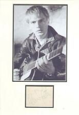 ADAM FAITH SIGNED AUTOGRAPH