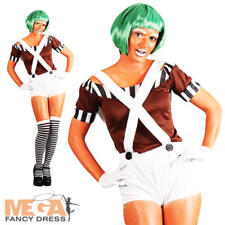 Sexy Factory Worker Oompa Loompa Ladies Chocolate Factory Fancy Dress Costume